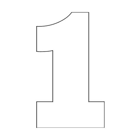 Number One Template number stencils free printable number stencils 1 found