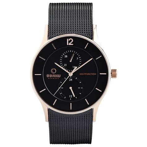 nordic design watches men s rosegold watch torden night obaku official 174