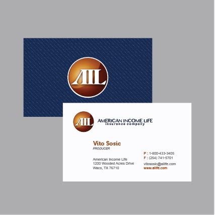 american income life business cards images business card