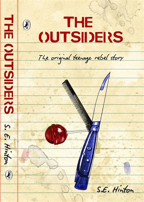 a book report on the outsiders the outsiders book cover design on behance