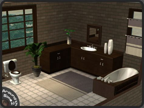 Sims 2 Bathroom by Around The Sims 2 Objects Bathroom Maxis Wenge