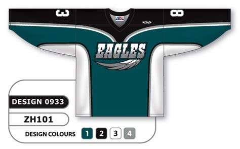 Home Design And Decor Promo Code by Sublimated Hockey Jersey Eagles Series Custom Made Or Blank