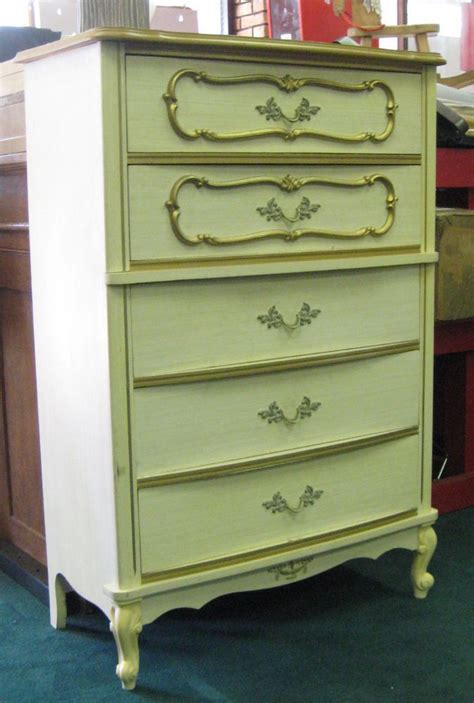 white french country dresser vintage wood off white french provincial chest of drawers