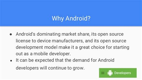 Why Android Is Open Source by Getting Started As An Android Developer