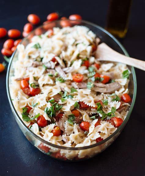 tasty pasta salad fresh tomato tuna pasta salad the tasty other
