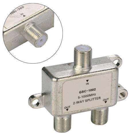 Spliter Antena 2 Way Tv Aerial Splitter Antenna Cable 5 1000 Mhz F