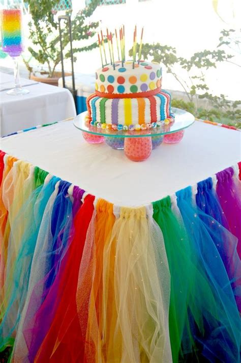 Table Skirt Ideas Party Table Decorating Ideas How To Make It Pop