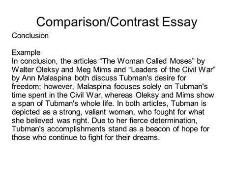 Compare And Contrast Essay Conclusion Exle writing portfolio with mr butner ppt