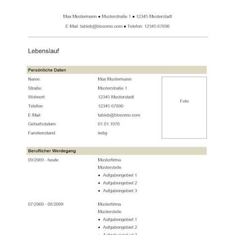 Muster Und Vorlagen Für Bewerbungen Vorlage 39 Tabellarischer Lebenslauf