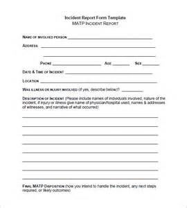 Incident Reporting Template Incident Report Template 34 Free Word Pdf Format