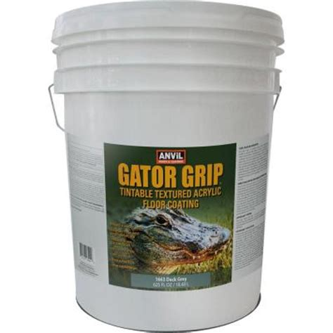anvil 5 gal deck grey gator grip acrylic textured solid