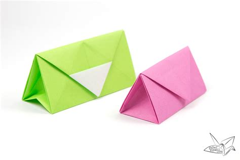 Origami Paper Purse - origami clutch bag purse tutorial paper kawaii