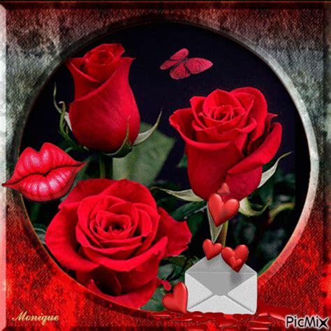 imagenes de rosas y corazones brillantes imagen animada de rosas y corazones mis rosas favoritas