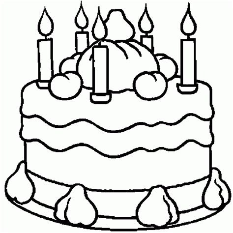 coloring pages birthday cake candles candle colouring pictires new calendar template site