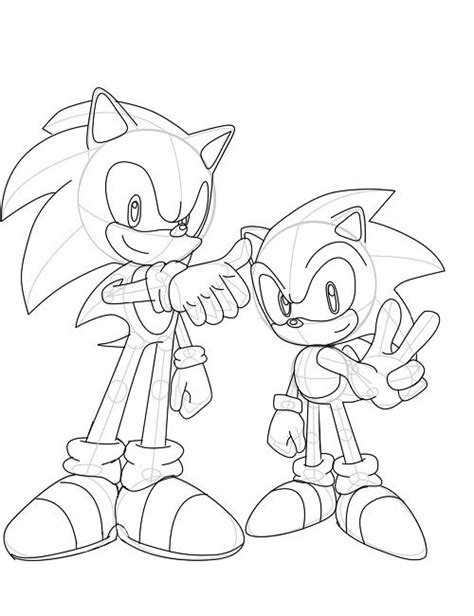 sonic generations coloring pages cartoon pinterest