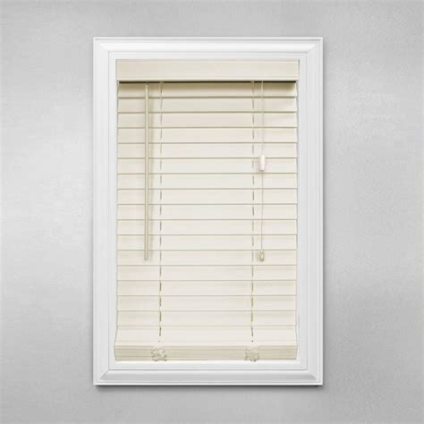 home decorators blinds home depot home decorators collection cut to width alabaster 2 in faux wood blind 67 5 in w x 64 in l