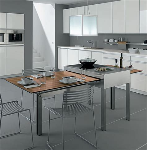 kitchen cooking tables combine cooking dining surfaces