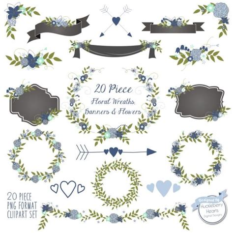 Wedding Clip Part by Floral Clipart Flower Clipart Wedding Clipart