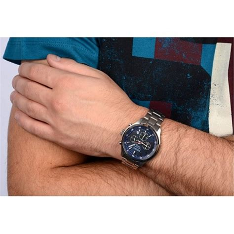 Seiko 5 Snkl31k1 Silver Blue by Seiko S Chronograph Stainless Steel Band
