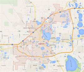 florida map lakeland lakeland central florida map gallery