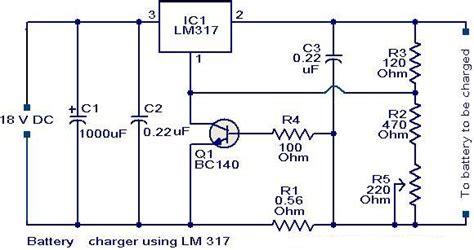 Kit Regulator Ac Dc 12v Ke Dc 9v Converter charger circuit using lm 317 with input 18v battery