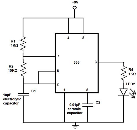 led blinker circuit diagram led flasher circuit electronics circuits