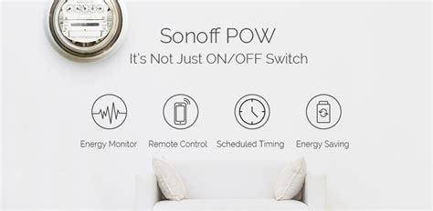 Sonoff Pow Wifi Switch With Power Consumption Measurement sonoff pow wifi relay switch with power consumption