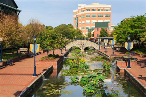 Downtown Gardens Times by Color On The Creek Frederick Maryland Editorial Image