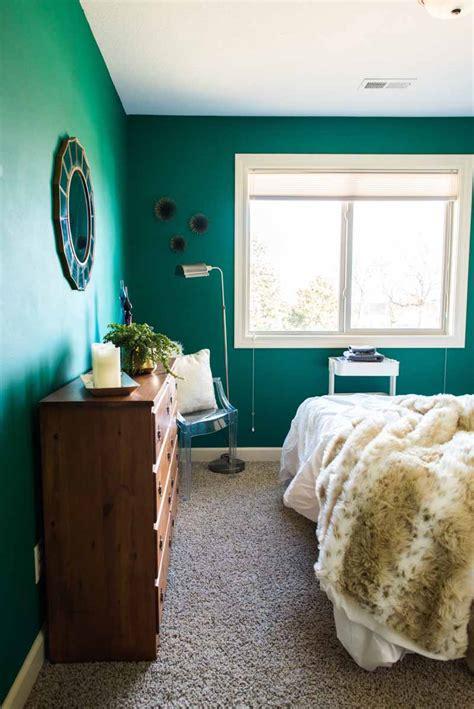 before after bedroom makeover design sponge before after a colorful guest bedroom makeover in the