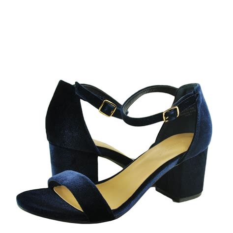 navy sandals heels s shoes bamboo highlight 06s chunky heel sandals