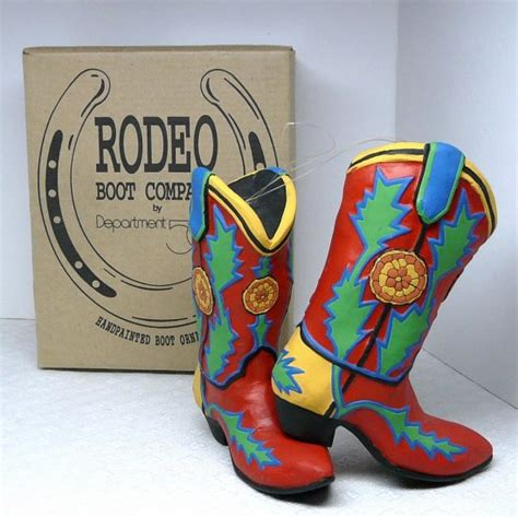 studio 56 collectibles cowboy boot ornament 2 department 56 dept 56 ornaments rodeo boot company cowboy boots box 1998