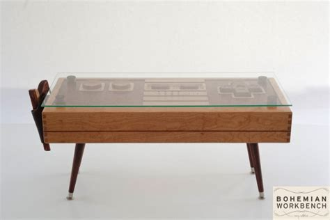 Controller Coffee Table Fancy Functional Wooden Nes Controller Coffee Table Geekologie