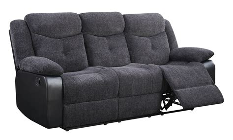 black fabric reclining sofa u1566 series jasmine mouse black fabric reclining sofa