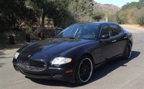 maserati black 4 door find used maserati quattroporte gt 2007 4 door black
