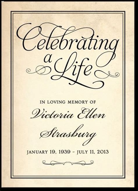 27 Best Memorial Celebration Of Life Ideas Images On Pinterest Funeral Ideas Memorial Ideas Celebration Of Cards Templates Free