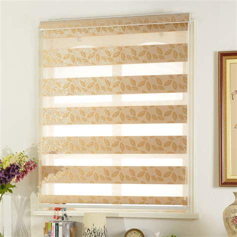 zebra pattern roller blind jacquard leaf pattern luxury zebra blinds roller shutter