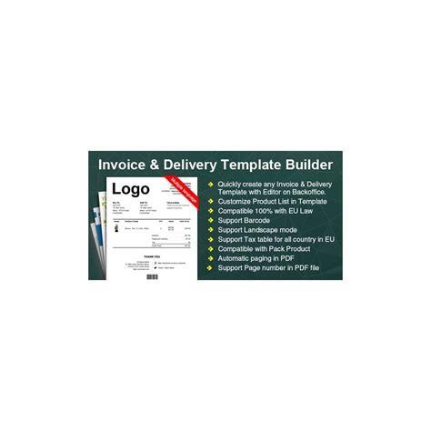 Erweiterte Rechnung Lieferung Pdf Template Builder Prestashop Addons Pdf Template Builder