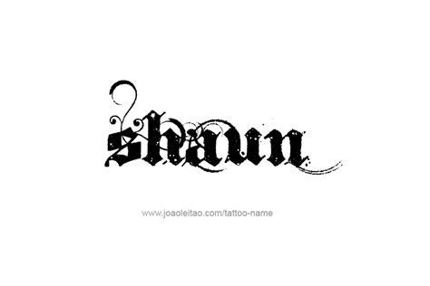 shaun tattoo design shaun name designs