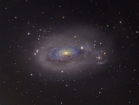 sunflower galaxy the sunflower galaxy m63 in canes venatici astronomy com