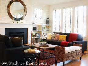 Black Sofas Living Room Design by Black Sofa Living Room Decorating Ideas Home Decoration