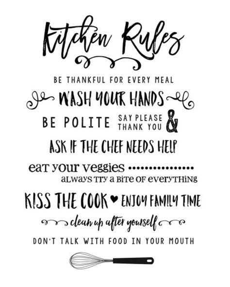 Dining Room Wall Decorations 25 best ideas about kitchen rules on pinterest verses