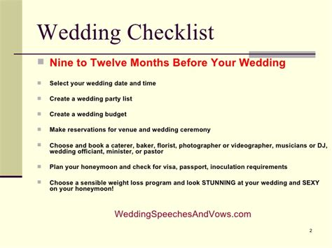Wedding Checklist And Timeline by Wedding Checklist And Timeline