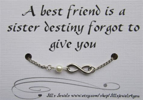 friendship infinity quotes best friend infinity charm bracelet with pearl by