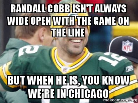 Randall Meme - randall cobb isn t always wide open with the game on the
