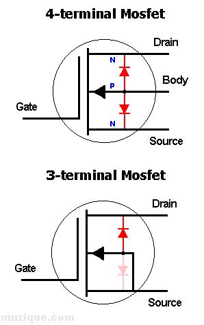 diode forward voltage mosfet why source diode is forward biased in the picture electronics forum circuits projects
