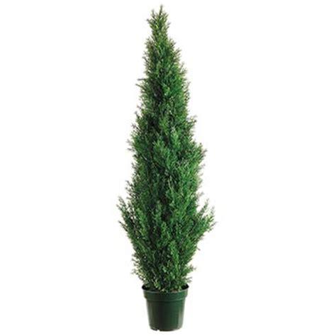 Outdoor Artificial Tree - 5 foot artificial outdoor cedar tree potted 5ftced