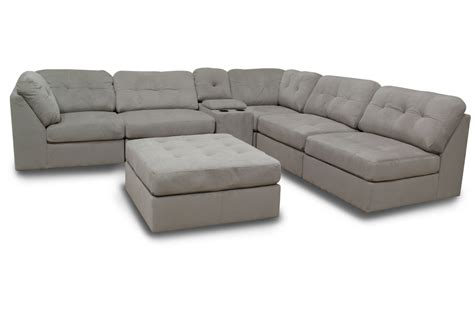 sectional microfiber hillsdale 6 piece microfiber sectional with ottoman at