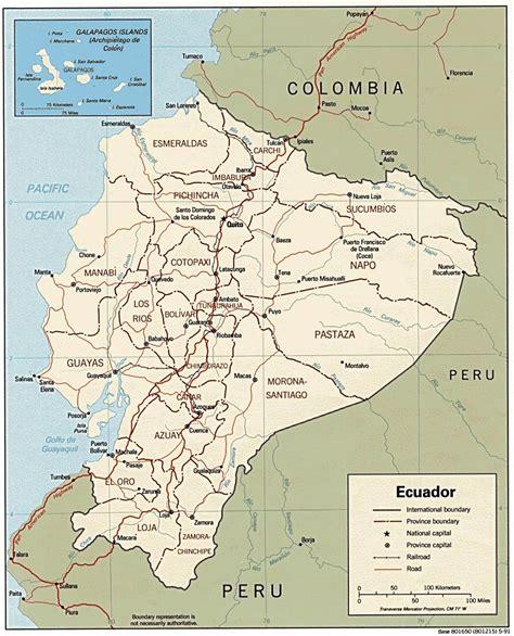 ecuador on map ecuador maps printable maps of ecuador for