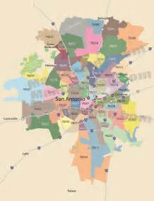 Map Of San Antonio Zip Codes by San Antonio Zip Code Map Zipcode Map Of San Antonio Texas