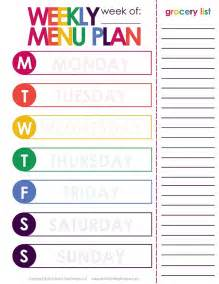 Weekly Menu Plan Template by Weekly Menu Plan Printable The O Jays Do You And